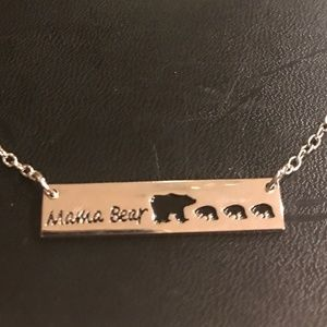 New Mama Bear & 3 Cubs Mother Necklace (new)